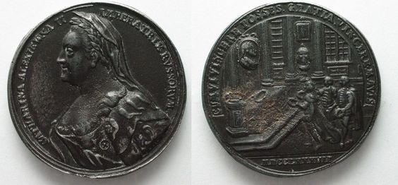 1787 Russland - Medaillen CATHERINE II Cast iron medal RESTITUTION OF TERRITORIES FROM POLAND # 93749 EF