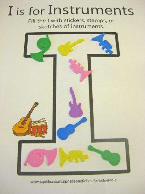 alphabet activities for kids i is for instruments ***free ...