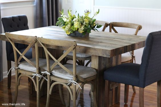Emmerson Reclaimed Wood Dining Table from west elm  : 2999d4f6edf11e30cfe87ebe86a39fe6 from www.pinterest.com size 564 x 376 jpeg 37kB