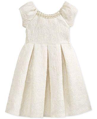 Bonnie Jean Little Girls&39 Brocade A-Line Dress  Small Wedding ...
