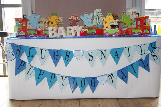 Home made bunting for a sweet table