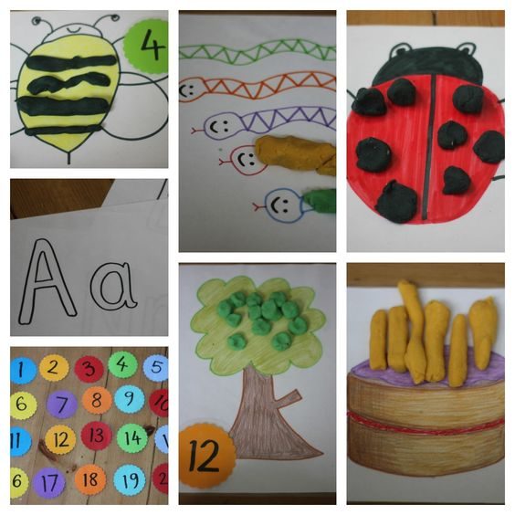 Play Dough Learning Mats for Literacy and Numeracy Development