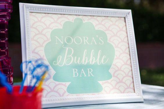 Under the Sea Bubble Bar via Kara's Party Ideas | KarasPartyIdeas.com