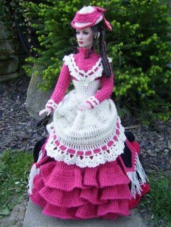 Monika's crochet on her Tonner.