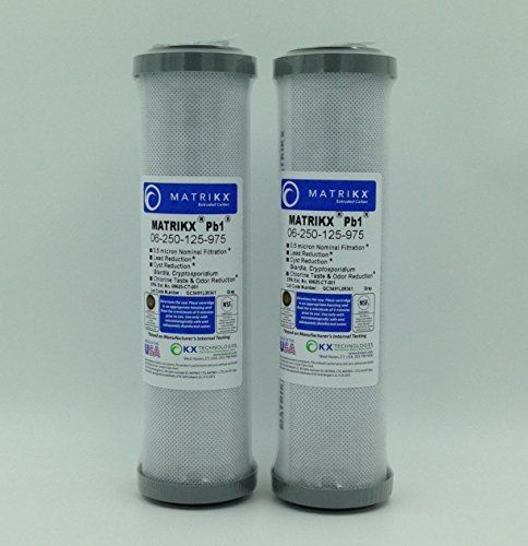 Kx Matrikx Pb1 10 Inch Length Extruded Carbon Block Filter Cartridge 2 Pack Water Filter Cartridge Water Treatment System Ceramic Water Filter