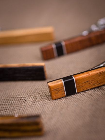 Wooden Tie Clip | Donald J Fuss Fine Woodworking | Bourbon & Boots