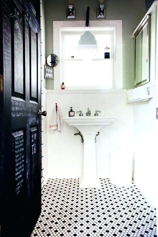 Black And White Floor Tile Bathroom Bathroom Flooring Small Black