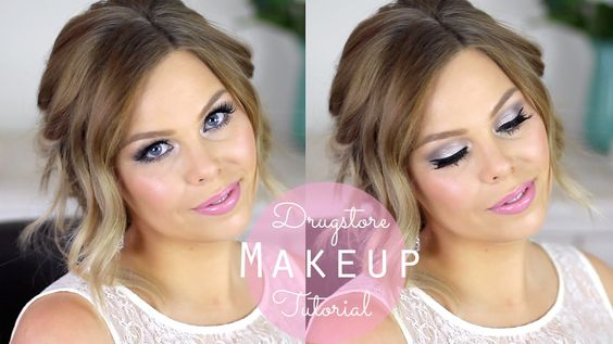 Glamorous Glowing Skin Drugstore Makeup Tutorial