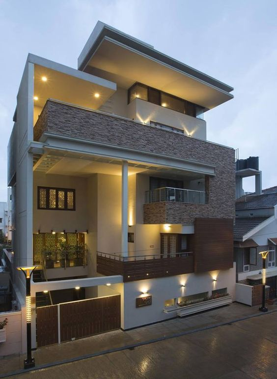 Elegant modern residential house in india plus beautiful house villa
