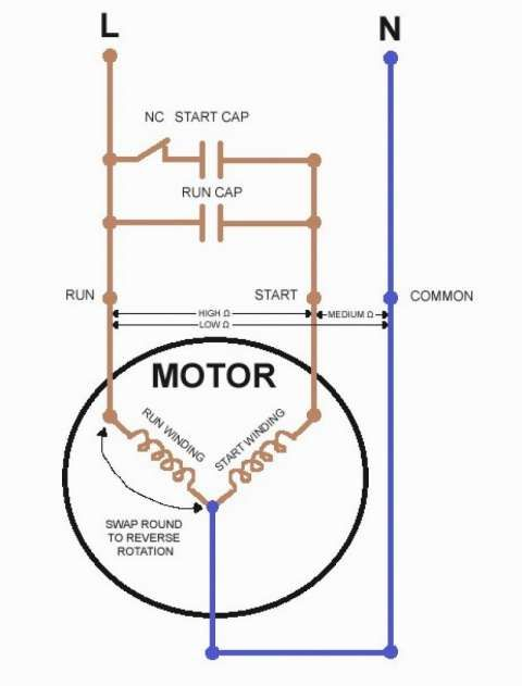 12 Baldor Electric Motor Capacitor Wiring Diagram Wiring Diagram Wiringg Net In 2020 Ac Capacitor Electrical Circuit Diagram Refrigerator Compressor