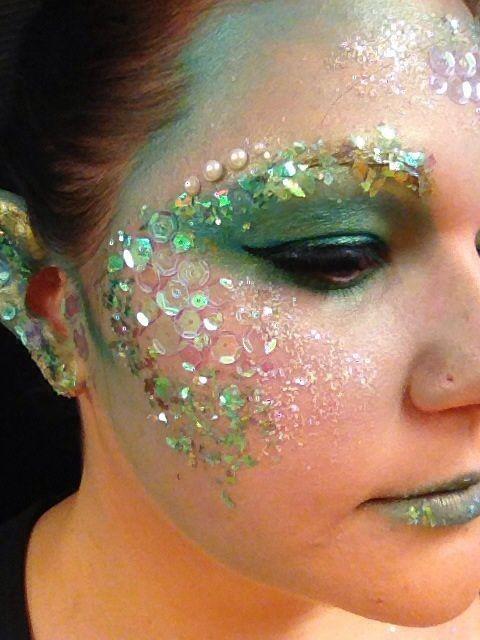 Up close on mermaid makeup