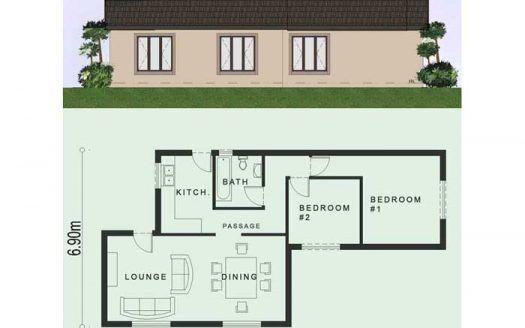 2 Bedroom House Plans House Designs Floor Plans Nethouseplansnethouseplans In 2020 House Plans South Africa Simple House Plans Flat Roof House Designs