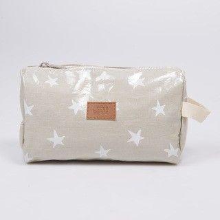 Necessaire Fiambalá, plastificado gris estrellas blancas