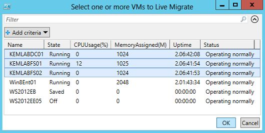 Bulk Live Migrate Your Virtual Machines (VMs) with PowerShell 3.0 and Windows Server 2012 Hyper-V