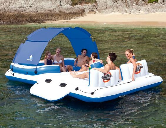 Ile gonflable bestway tropical breeze jeux de piscine gonflables pinteres - Ile flottante gonflable ...