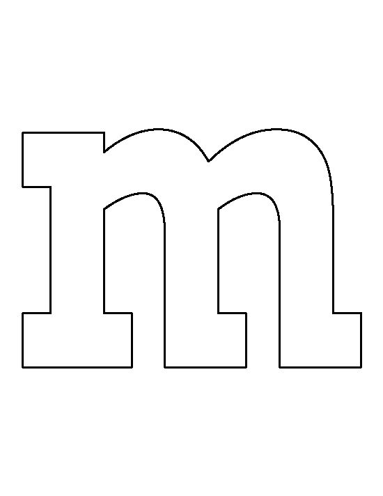 lowercase letter m pattern use the printable outline for