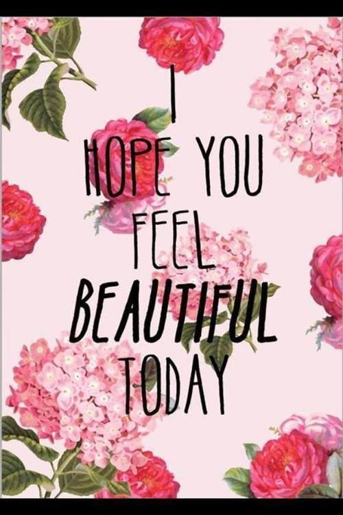 I hope you feel beautiful today!   www.tolarmiles.com