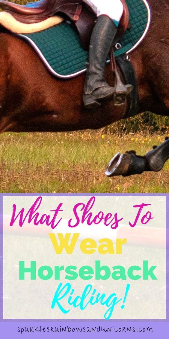 I am assuming that you are getting   started with horses or you are just curious. If you are getting started   congratulations horses are awesome creatures and horseback riding is a   lot of fun. I have been riding for over 20 years and still love it. I   have gone through many well-worn pairs of riding boots and know what to   look for in a good pair.So to answer the question: What kind of shoes do you wear to ride a horse? Click to learn more.
