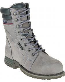 Caterpillar Women's Grey Echo Waterproof Work Boots - Steel Toe