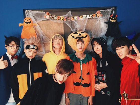 Les BTS fêtent Halloween sur scène