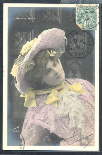 PW026-ARTIST-STAGE-STAR-YRVEN-Large-HAT-Tinted-PHOTO-pc-STEBBING-1904