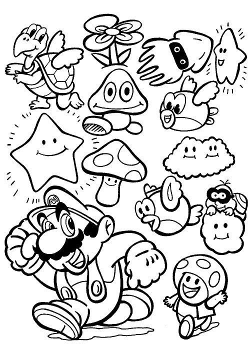 13 Meilleur De Coloriage Mario Kart Image Super Mario Coloring Pages Mario Coloring Pages Coloring Books