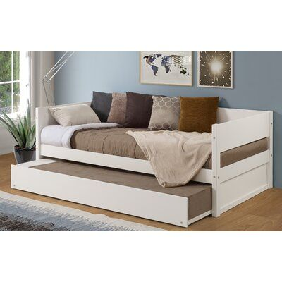 Red Barrel Studio Kareem Wood Panel Twin Daybed With Trundle