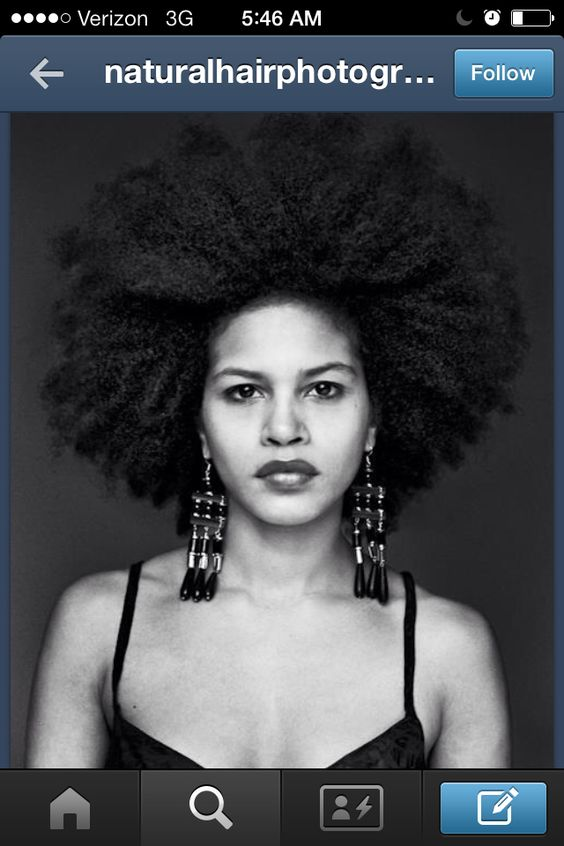 Her AFRO is everything #afro #blowout #natural hair