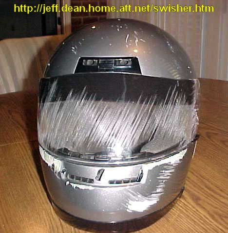 The value of a full-face helmet over a half-helmet (or no helmet) -- scratches all over the face and faceshield