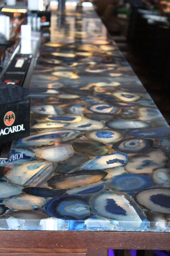 ImagiLux Creates Custom Led Light Panels // Looking To Backlight Your  Stone? Check Out Our LED Light Panels // Caesarstone Concetto Profondo 8531 Bar  Top  ...