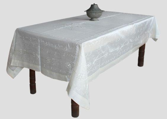 Seda Suzani Natural Toalha de Mesa Pink 160x220 cm - Produtos Importados da Turquia - Loja VirtualProdutos Importados da Turquia – Loja Virtual
