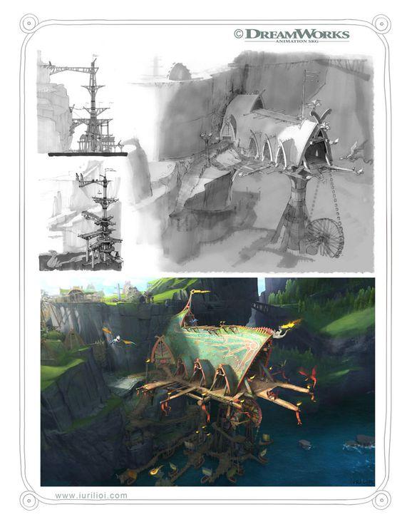 Concept Arts de Iuri Lioi para How to Train Your Dragon 2 | THECAB - The Concept Art Blog