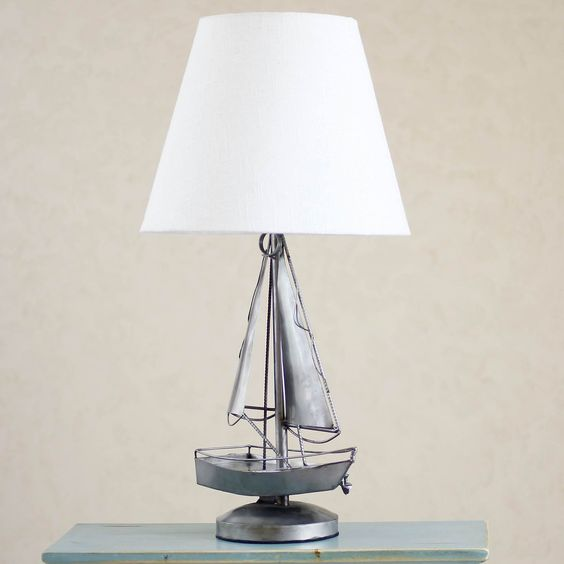 Novica Handcrafted Recycled Metal 'Rustic Sailboat' Lamp