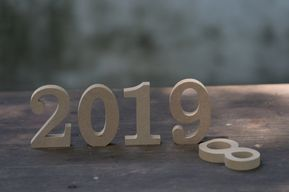 New Year 2019 3d Gold Wallpaper Background