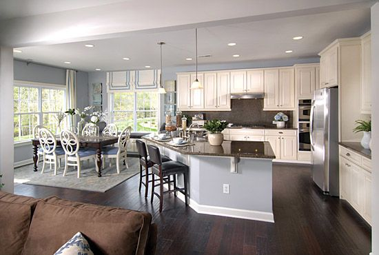 open floor plan kitchen and living room. oh to be able see what my children are doing in the living room while I  am kitchen Would love this floor plan Best 25 Open concept ideas on Pinterest house