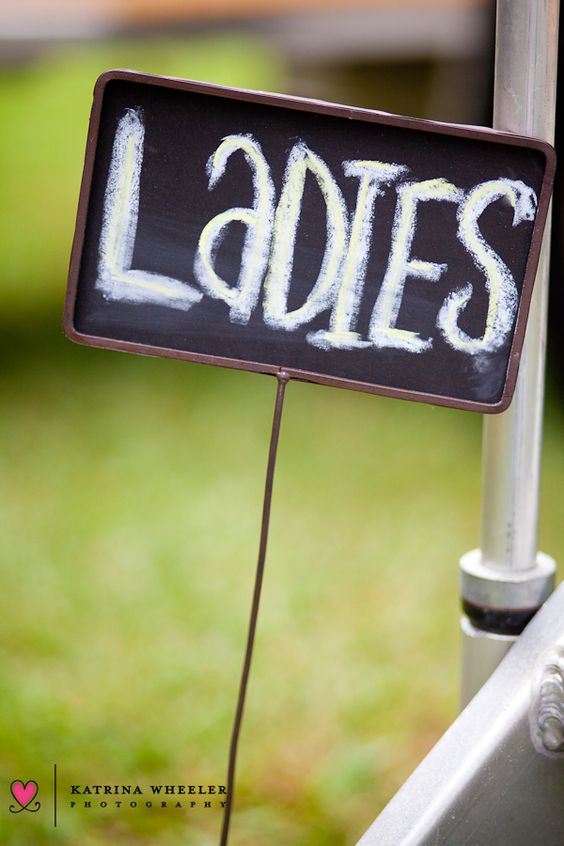 Atlanta Watercloset - Boutique Portable Restrooms for Rent in Atlanta - Exterior Ladies Sign