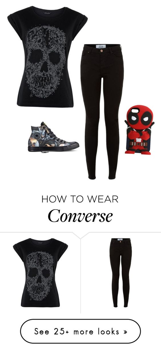 """Untitled #328"" by cutegoth on Polyvore featuring Converse"