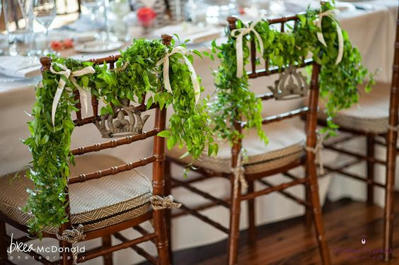 Bride & Groom chair details. Real Wedding - Great Harbor Yacht Club, Nantucket. Read more about Jessica & Steve's Nantucket Wedding on the blog! www.blog.soireefloral.com #soiree #floral #nantucket #wedding #brea #mcdonald