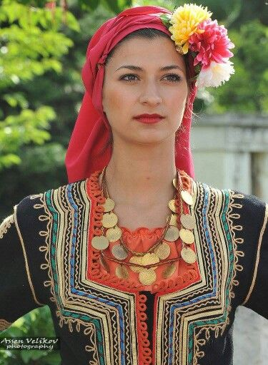 Bulgarian in traditional costume