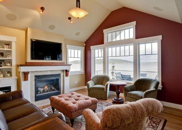 interior design living room colors - Family rooms, ccent wall designs and raditional family rooms on ...