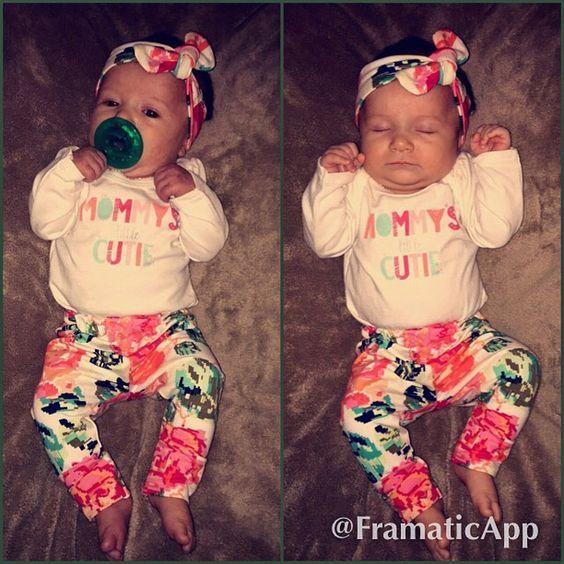 #mommyslittlecutie #floral #babyswag