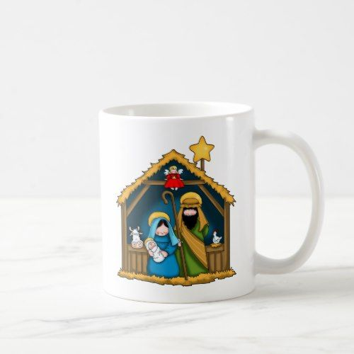 Nativity Stable Scene Coffee Mug Zazzle Com Nativity Stable Nativity Mugs