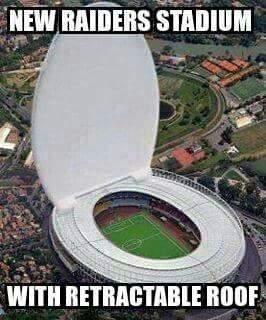 Lol, no offence to any Raiders fans out there! Honestly , I would have done it for any team. Even the Packers (my fav) It's just funny! This is a soccer field anyway!