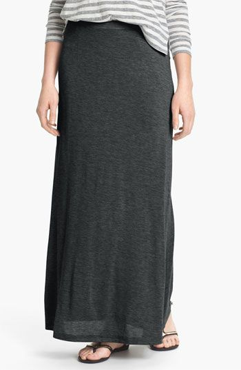 Eileen Fisher Silk & Cotton Jersey Maxi Skirt available at ...