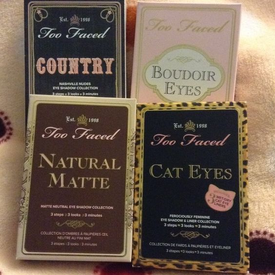 Too faced palettes Natural matte⚫️cat eyes⚫️country ⚫️boudoir eyes⚫️ all new ,authentic Too Faced Makeup Eyeshadow