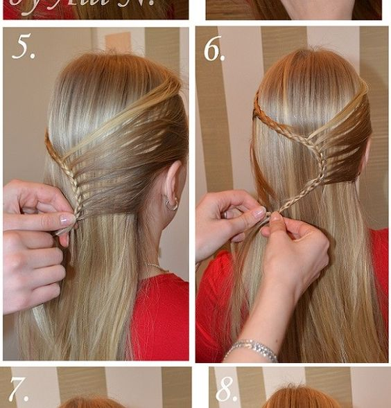 Long hairstyles, Rope braid and Flower on Pinterest