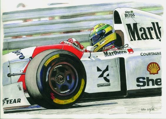 Ayrton Senna, McLaren MP4/8-Ford 1993 by Leotrek.deviantart.com on @deviantART
