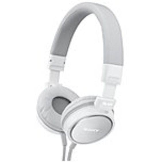 Sony MDR-ZX600/WHI ZX Series Stereo Headphone - Stereo - White - Mini-phone - Wired - 40 Ohm - 6 Hz 25 kHz - Gold Plated - Over-the-head - Binaural - Ear-cup - 3.94 ft Cable