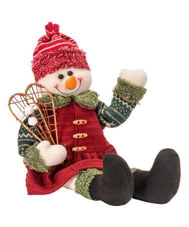 Look at this #zulilyfind! Snowshoe Snowman Shelf Sitter Cloth Figure #zulilyfinds