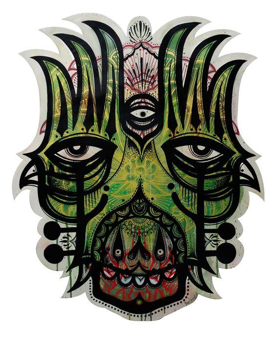 MASKTATT GREEN 1 - Paul Vinoy